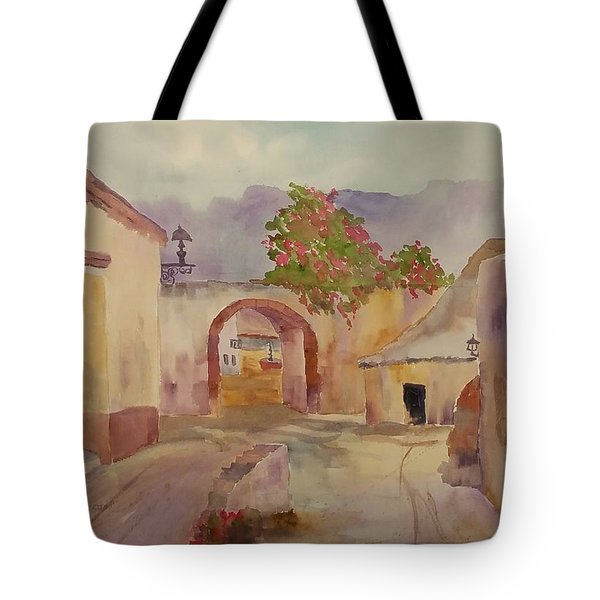 Mexican Street Scene Tote Bag by Larry Hamilton