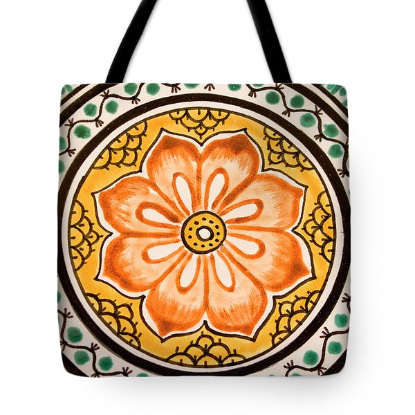 Mexican Tile Detail Tote Bag