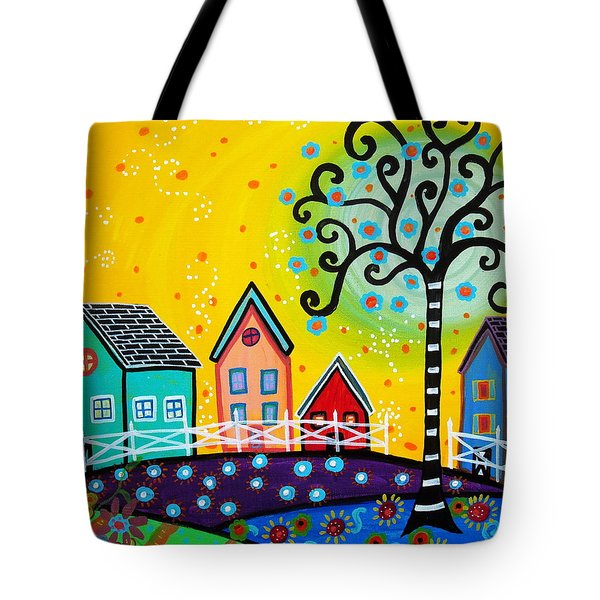 Mexican Town Tote Bag