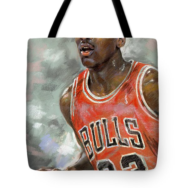 Michael Jordan Tote Bag by Ylli Haruni