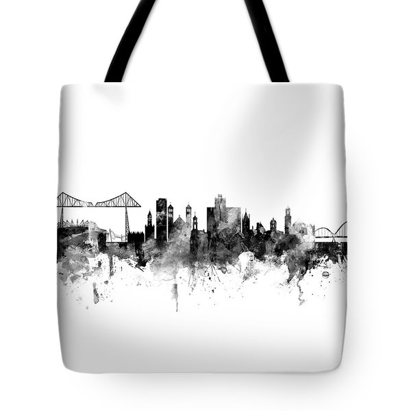 Middlesbrough England Skyline Tote Bag