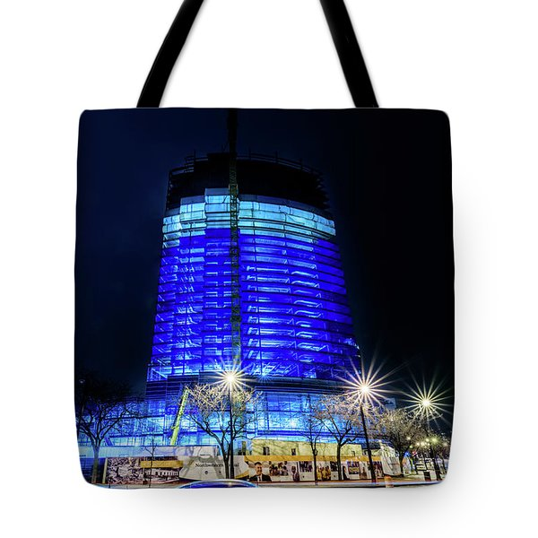 Tote Bag featuring the photograph Midnight Blues by Randy Scherkenbach