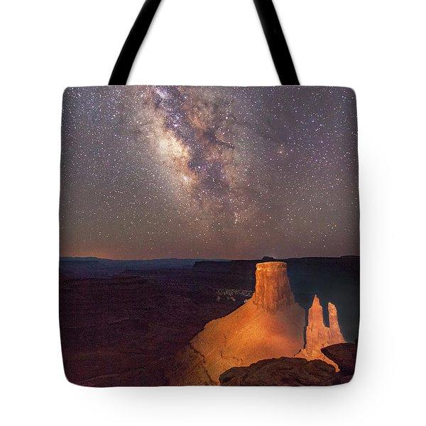 Milky Way At Marlboro Point Tote Bag