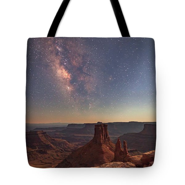 Milky Way At Twilight - Marlboro Point Tote Bag