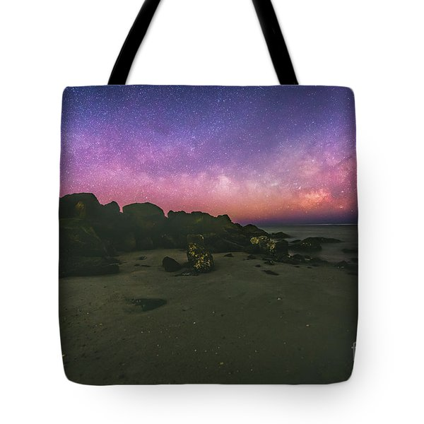 Milky Way Beach Tote Bag by Robert Loe