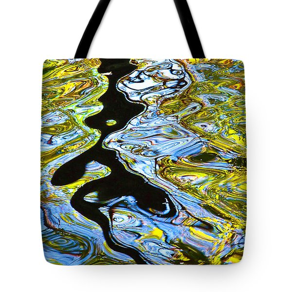 Tote Bag featuring the photograph Mill Pond Reflection by Tom Cameron