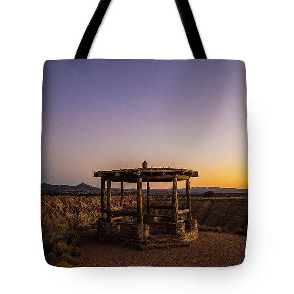 Cathedral Gorge Gazebo Tote Bag