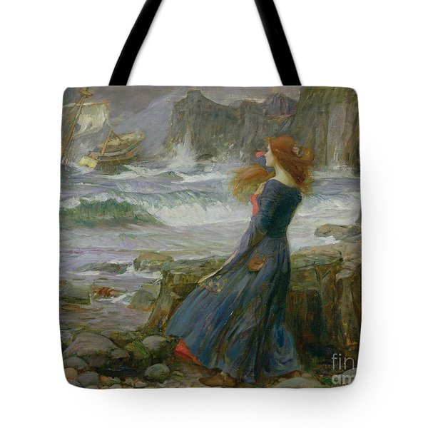 Miranda Tote Bag by John William Waterhouse