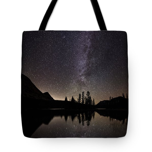 Mirror Lake Milky Way Tote Bag