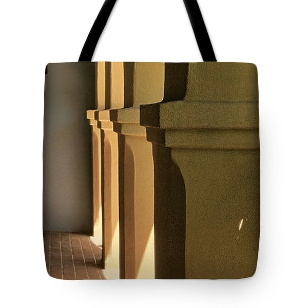 Mission Arches Pano Tnt Tote Bag