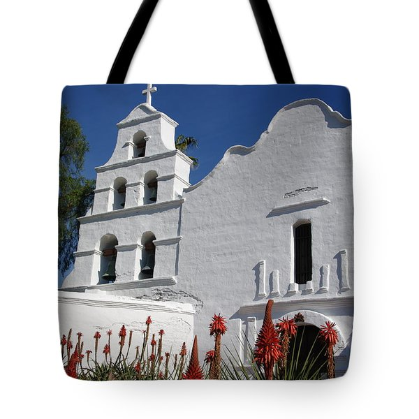 Mission San Diego Tote Bag