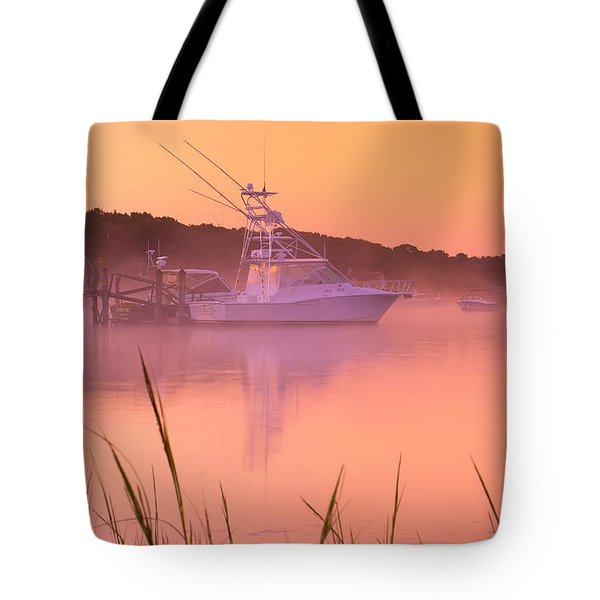 Misty Morning Osterville Cape Cod Tote Bag by Matt Suess