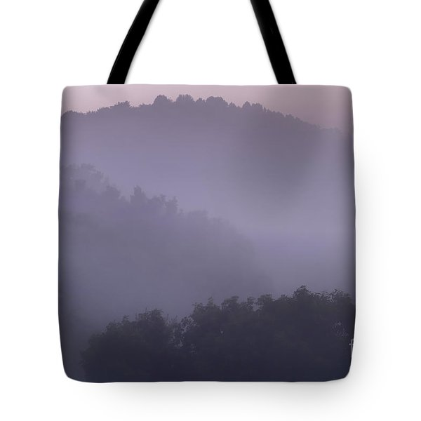Misty Mountain Morning Tote Bag by Thomas R Fletcher