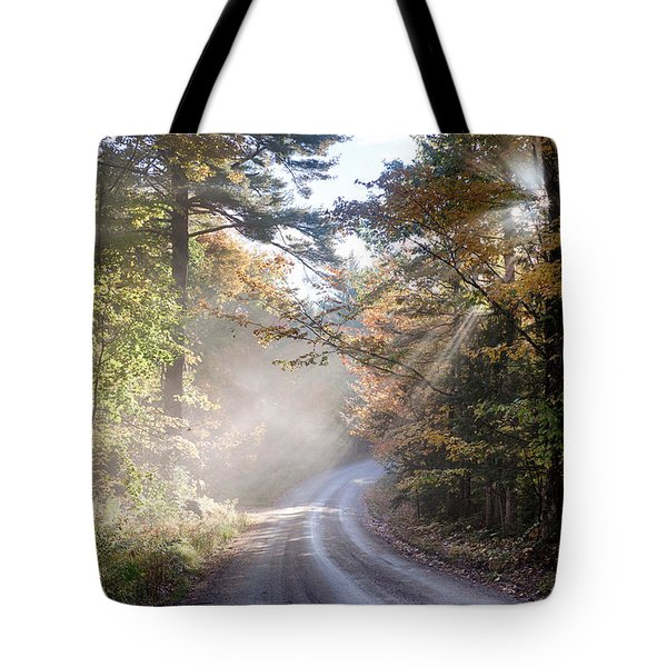 Misty Mountain Road Tote Bag by Jeff Folger