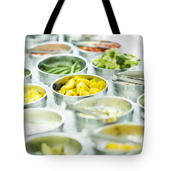 Mixed Vegetables In Salad Bar Display Tote Bag