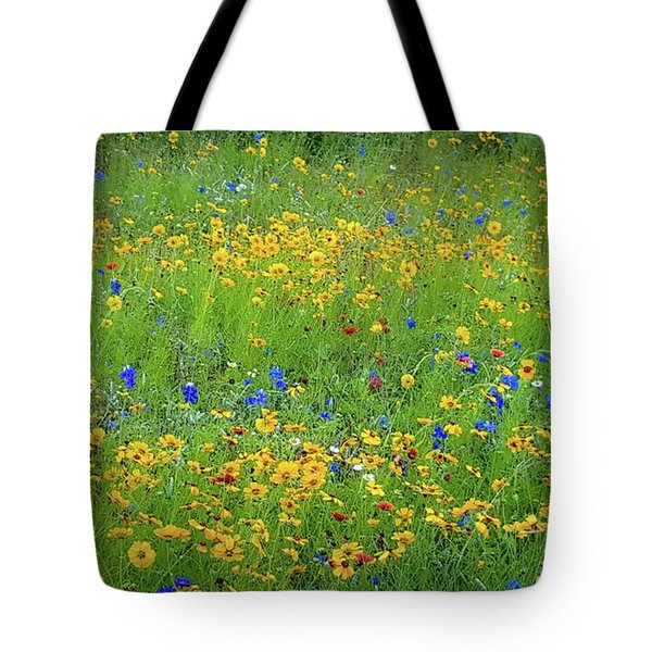 Mixed Wildflowers In Texas 538 Tote Bag