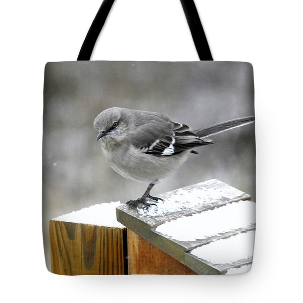 Tote Bag featuring the photograph Mockingbird  by Brenda Bostic