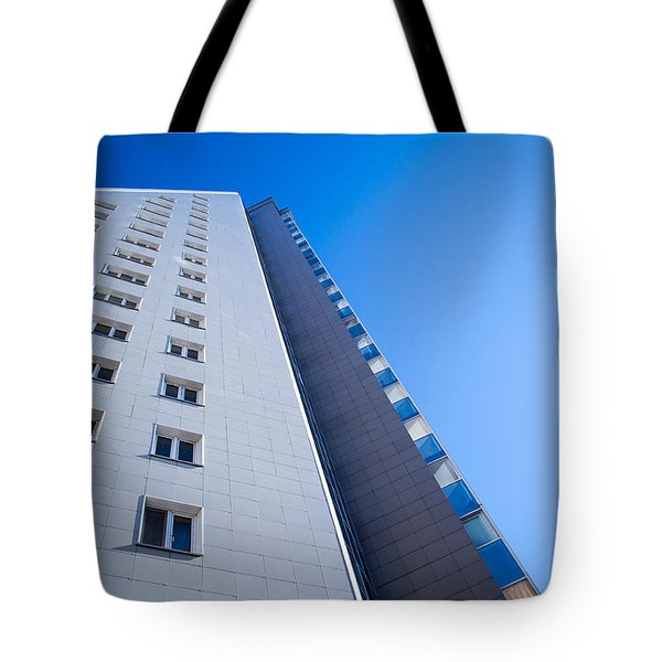 Tote Bag featuring the photograph Modern Apartment Block by John Williams