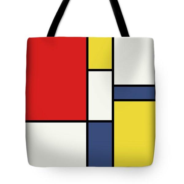 Mondrian Inspired Tote Bag