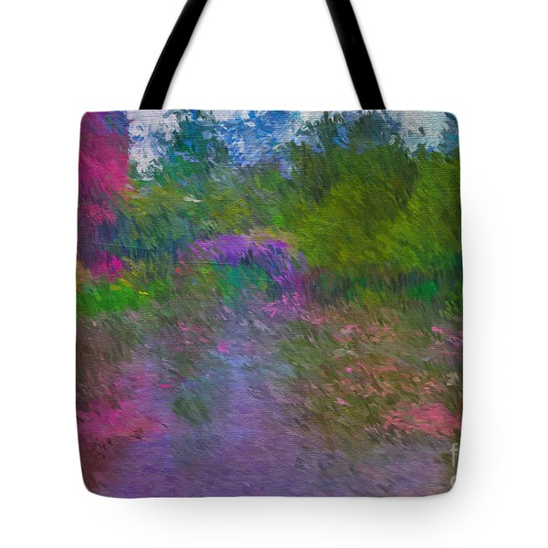 Monet's Lily Pond Tote Bag by Jim  Hatch