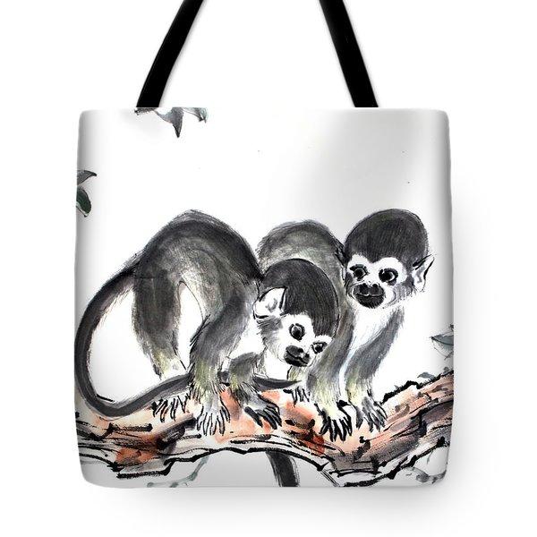 Monkeys Tote Bag