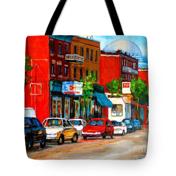 Montreal Paintings Tote Bag by Carole Spandau