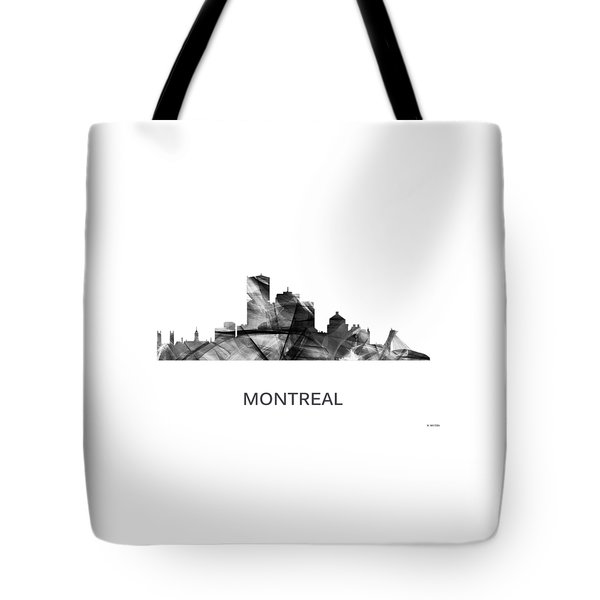 Montreal Que.skyline Tote Bag