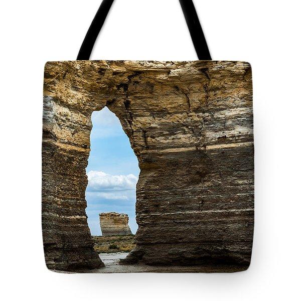 Monument Rocks Tote Bag