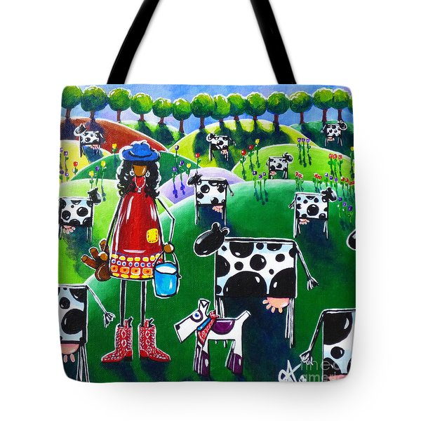 Moo Cow Farm Tote Bag by Jackie Carpenter