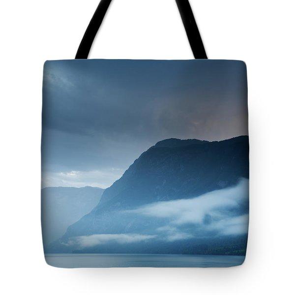 Moody Lake Bohinj Tote Bag