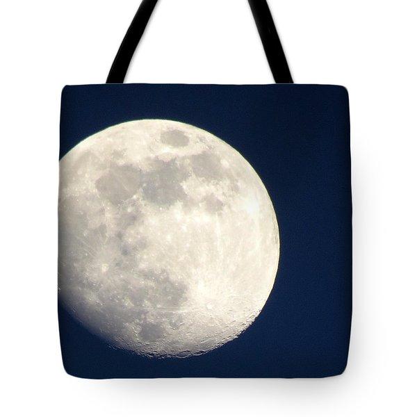 Moon In Blue Tote Bag