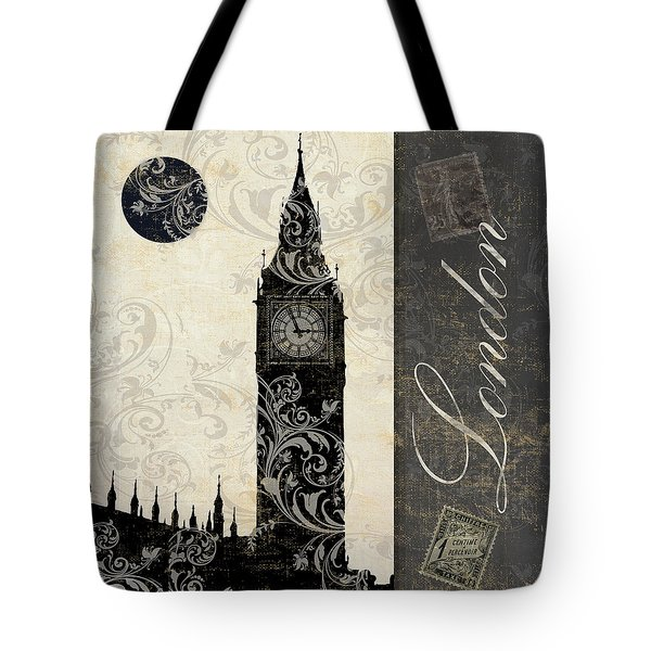 Moon Over London Tote Bag by Mindy Sommers