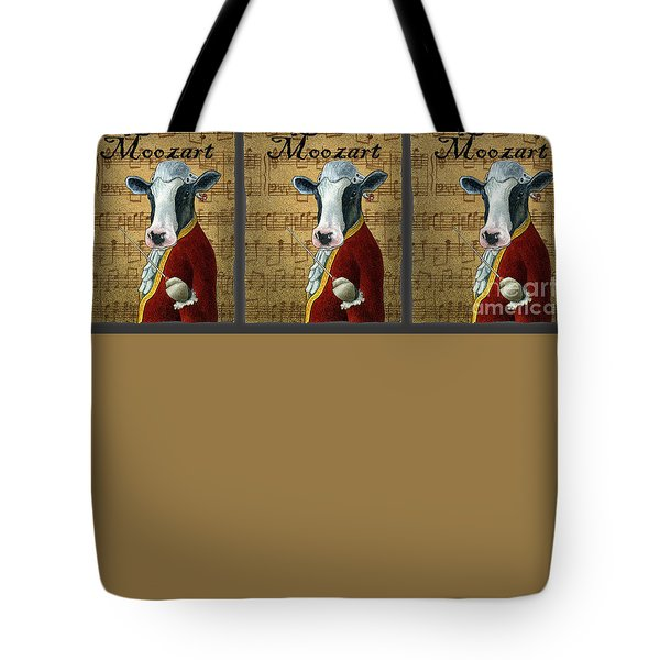 Tote Bag featuring the painting Moozart... by Will Bullas