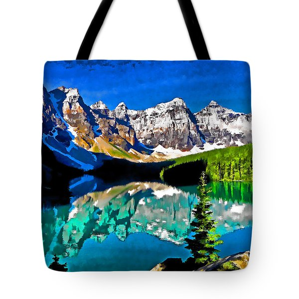 Moraine Lake Tote Bag by Dennis Cox WorldViews