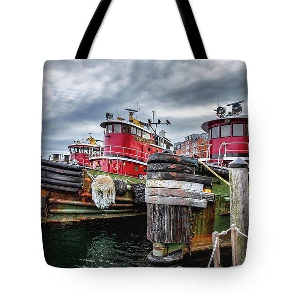 Moran Towing Tugboats Tote Bag