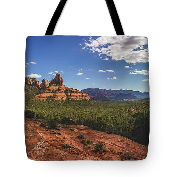 Mormon Canyon Panorama Tote Bag