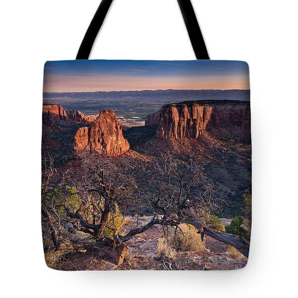 Morning At Colorado National Monument Tote Bag