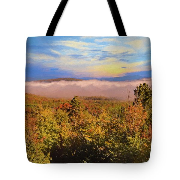 Morning Autumn Landscape Northern New Hampshire Tote Bag