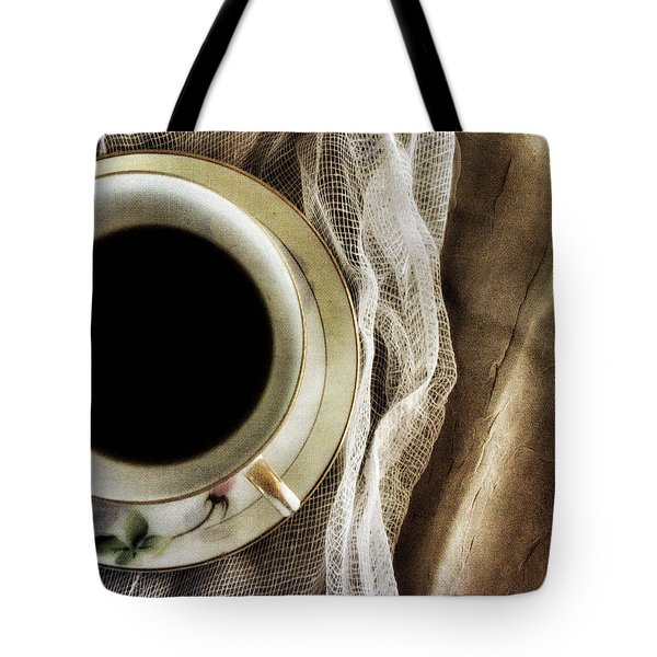 Tote Bag featuring the photograph Morning Coffee by Bonnie Bruno