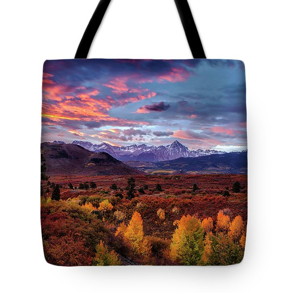 Morning Drama In The Colorado Rockies Tote Bag