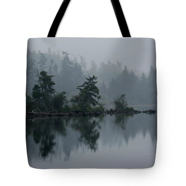 Morning Fog Over Cranberry Lake Tote Bag