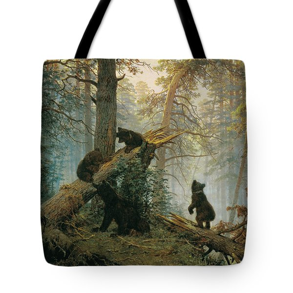 Morning In A Pine Forest Tote Bag
