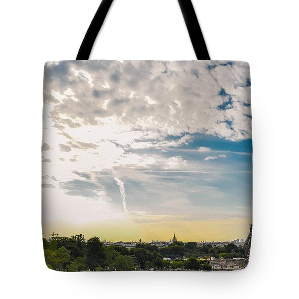 Morning In Front Of Old Lady Tote Bag