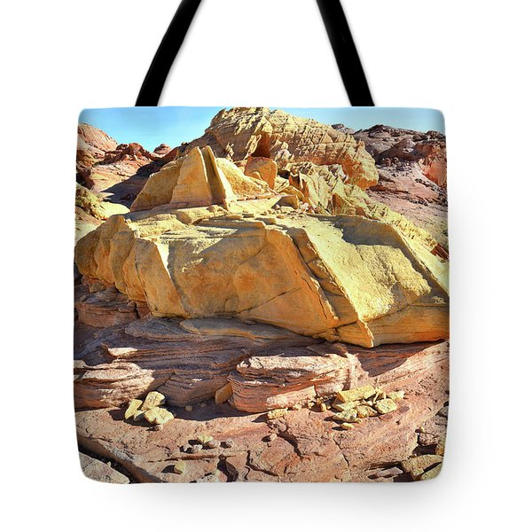 Morning In Wash 3 In Valley Of Fire Tote Bag