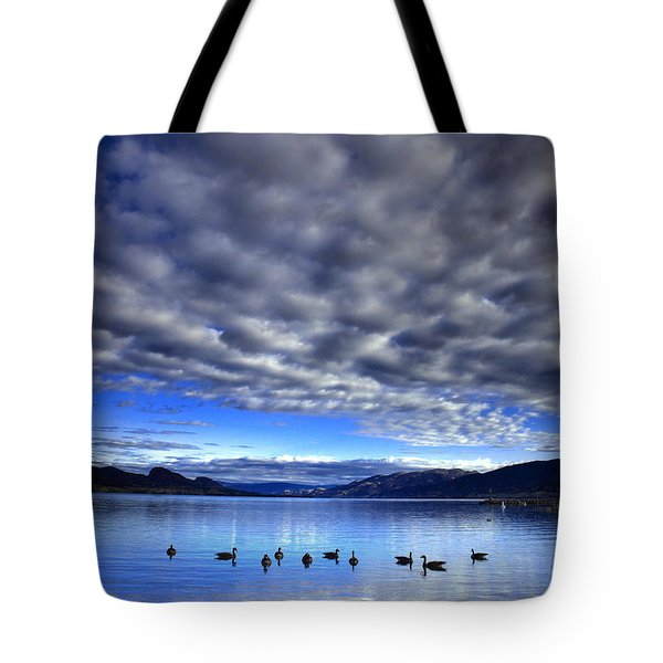 Morning Light On Okanagan Lake Tote Bag by Tara Turner