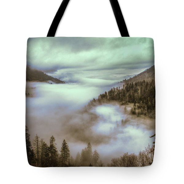Morning Mountains II Tote Bag by Rebecca Hiatt