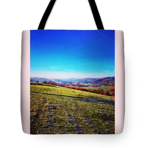 Morning Walk #walk #winter #early Tote Bag