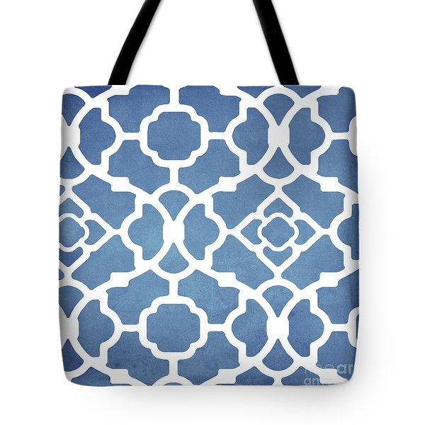 Moroccan Blues Tote Bag