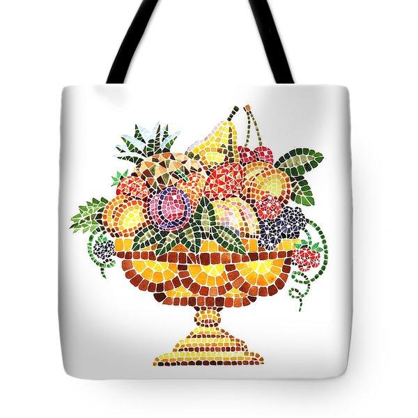 Mosaic Fruit Vase Tote Bag by Irina Sztukowski