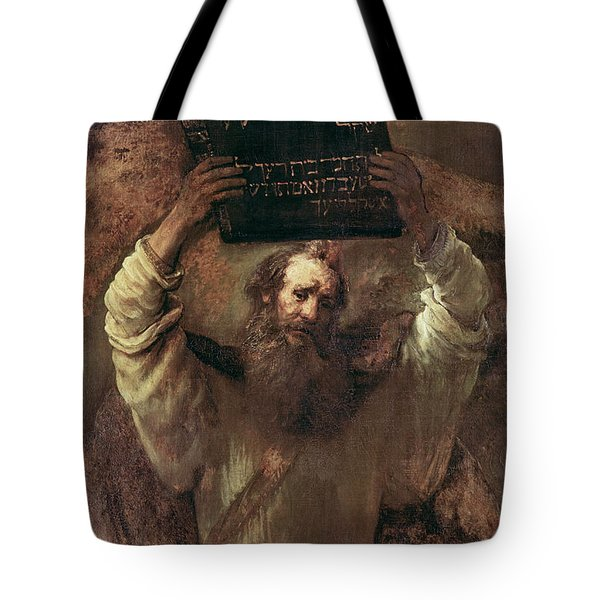 Moses Smashing The Tablets Of The Law Tote Bag